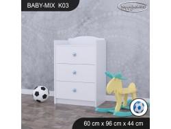 KOMODA BABY MIX K03 WHITE