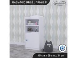 REGAŁ NISKI BABY MIX RN02 WHITE