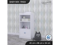 REGAŁ NISKI BABY MIX RN04 WHITE