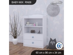 REGAŁ NISKI BABY MIX RN06 WHITE