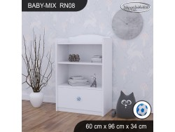 REGAŁ NISKI BABY MIX RN08 WHITE
