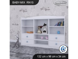 REGAŁ NISKI BABY MIX RN15 WHITE