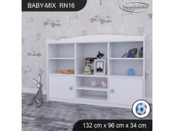 REGAŁ NISKI BABY MIX RN16 WHITE