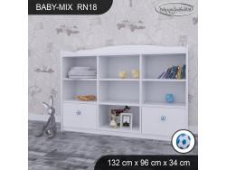 REGAŁ NISKI BABY MIX RN18 WHITE