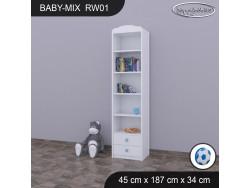 REGAŁ WYSOKI BABY MIX RW01 WHITE