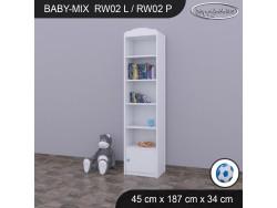 REGAŁ WYSOKI BABY MIX RW02 WHITE