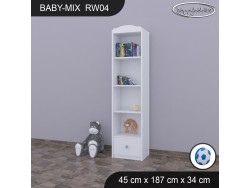 REGAŁ WYSOKI BABY MIX RW04 WHITE