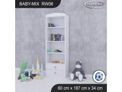 REGAŁ WYSOKI BABY MIX RW06 WHITE