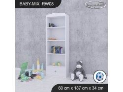 REGAŁ WYSOKI BABY MIX RW08 WHITE
