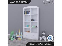 REGAŁ WYSOKI BABY MIX RW13 WHITE
