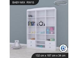 REGAŁ WYSOKI BABY MIX RW15 WHITE