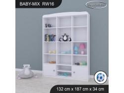 REGAŁ WYSOKI BABY MIX RW16 WHITE