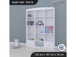 REGAŁ WYSOKI BABY MIX RW18 WHITE