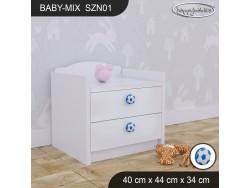 SZAFKA NISKA BABY MIX SZN01 WHITE