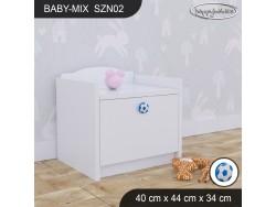 SZAFKA NISKA BABY MIX SZN02 WHITE