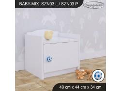 SZAFKA NISKA BABY MIX SZN03 WHITE