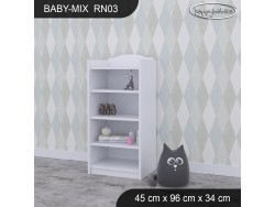 REGAŁ NISKI BABY MIX RN03 WHITE