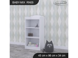 REGAŁ NISKI BABY MIX RN05 WHITE