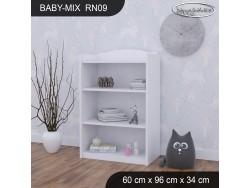 REGAŁ NISKI BABY MIX RN09 WHITE