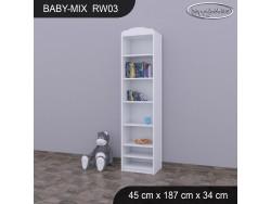 REGAŁ WYSOKI BABY MIX RW03 WHITE