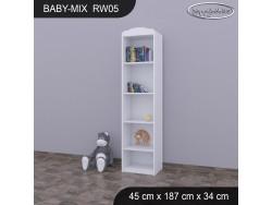REGAŁ WYSOKI BABY MIX RW05 WHITE
