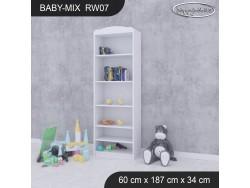 REGAŁ WYSOKI BABY MIX RW07 WHITE
