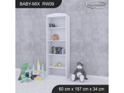 REGAŁ WYSOKI BABY MIX RW09 WHITE