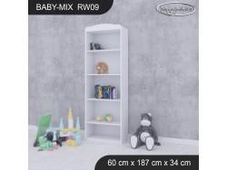 REGAŁ WYSOKI BABY MIX RW09 WHITE