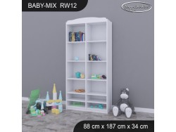 REGAŁ WYSOKI BABY MIX RW12 WHITE