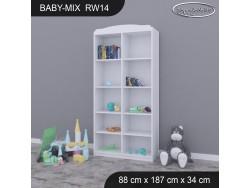 REGAŁ WYSOKI BABY MIX RW14 WHITE