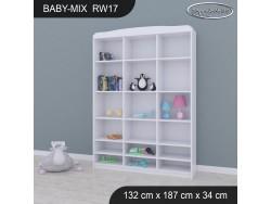 REGAŁ WYSOKI BABY MIX RW17 WHITE