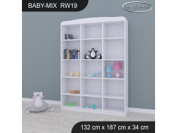 REGAŁ WYSOKI BABY MIX RW19 WHITE