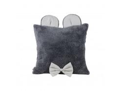 Poduszka ozdobna z uszkami - szara