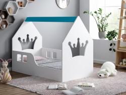 ŁÓŻKO DZIECIĘCE HAPPY HOUSE L03 160/80 - KORONA