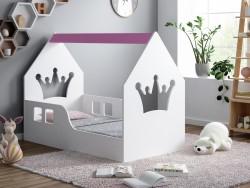 ŁÓŻKO DZIECIĘCE HAPPY HOUSE L01 140/70 - KORONA