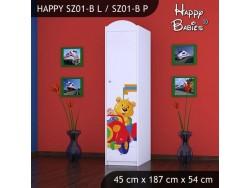 SZAFA HAPPY SZ01-B MISIU W CZERWONYM AUCIE