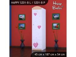 SZAFA HAPPY SZ01-B KSIĘŻNICZKA Z SERCEM