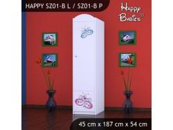 SZAFA HAPPY SZ01-B MOTYLEK