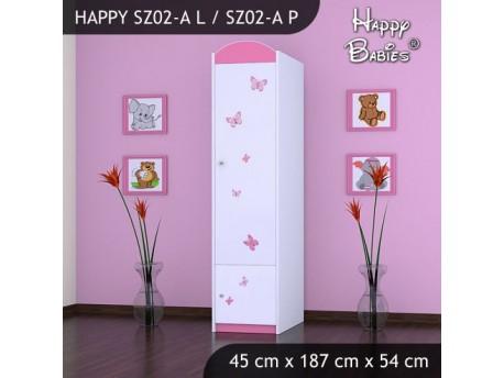 SZAFA HAPPY SZ02-A KSIĘŻNICZKA Z MOTYLKAMI