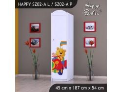 SZAFA HAPPY SZ02-A MISIU W CZERWONYM AUCIE