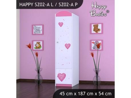 SZAFA HAPPY SZ02-A KSIĘŻNICZKA Z SERCEM