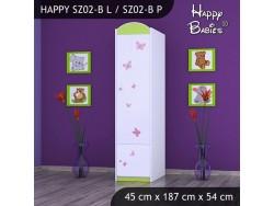 SZAFA HAPPY SZ02-B KSIĘŻNICZKA Z MOTYLKAMI