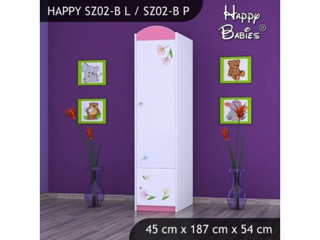 SZAFA HAPPY SZ02-B MISIU Z KWIATKAMI