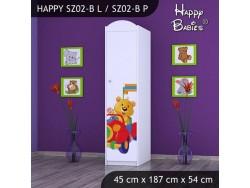 SZAFA HAPPY SZ02-B MISIU W CZERWONYM AUCIE