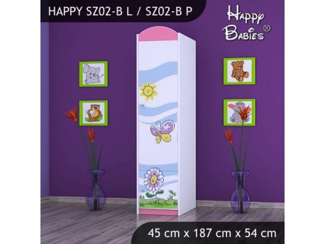 SZAFA HAPPY SZ02-B KWIATEK I MOTYL