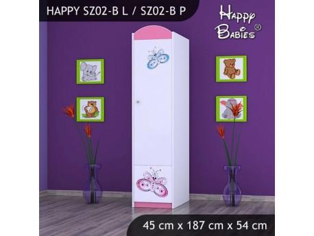 SZAFA HAPPY SZ02-B MOTYLEK