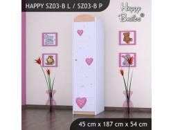 SZAFA HAPPY SZ03-B KSIĘŻNICZKA Z SERCEM