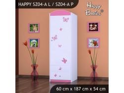 SZAFA HAPPY SZ04-A KSIĘŻNICZKA Z MOTYLKAMI