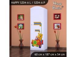 SZAFA HAPPY SZ04-A MISIU W CZERWONYM AUCIE