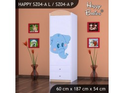 SZAFA HAPPY SZ04-A NIEBIESKI SŁOŃ